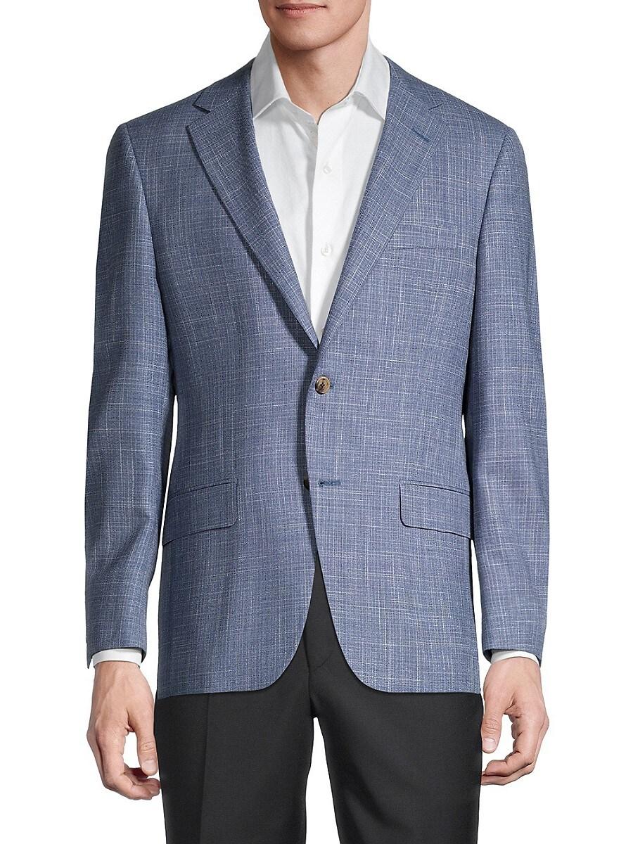 Men's Regular-Fit Milburn Wool & Silk-Blend Blazer