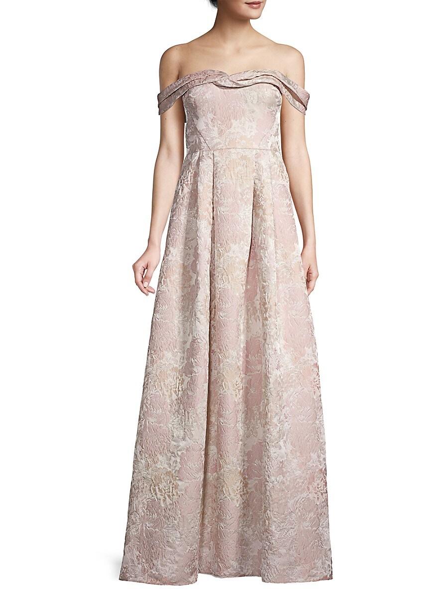 Women's Off-The-Shoulder Column Gown