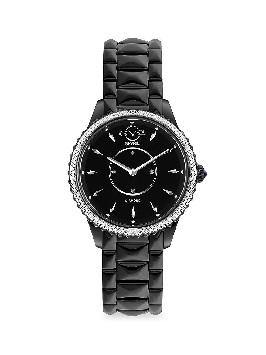 Women's Siena Black Stainless Steel & Diamond Bracelet Watch