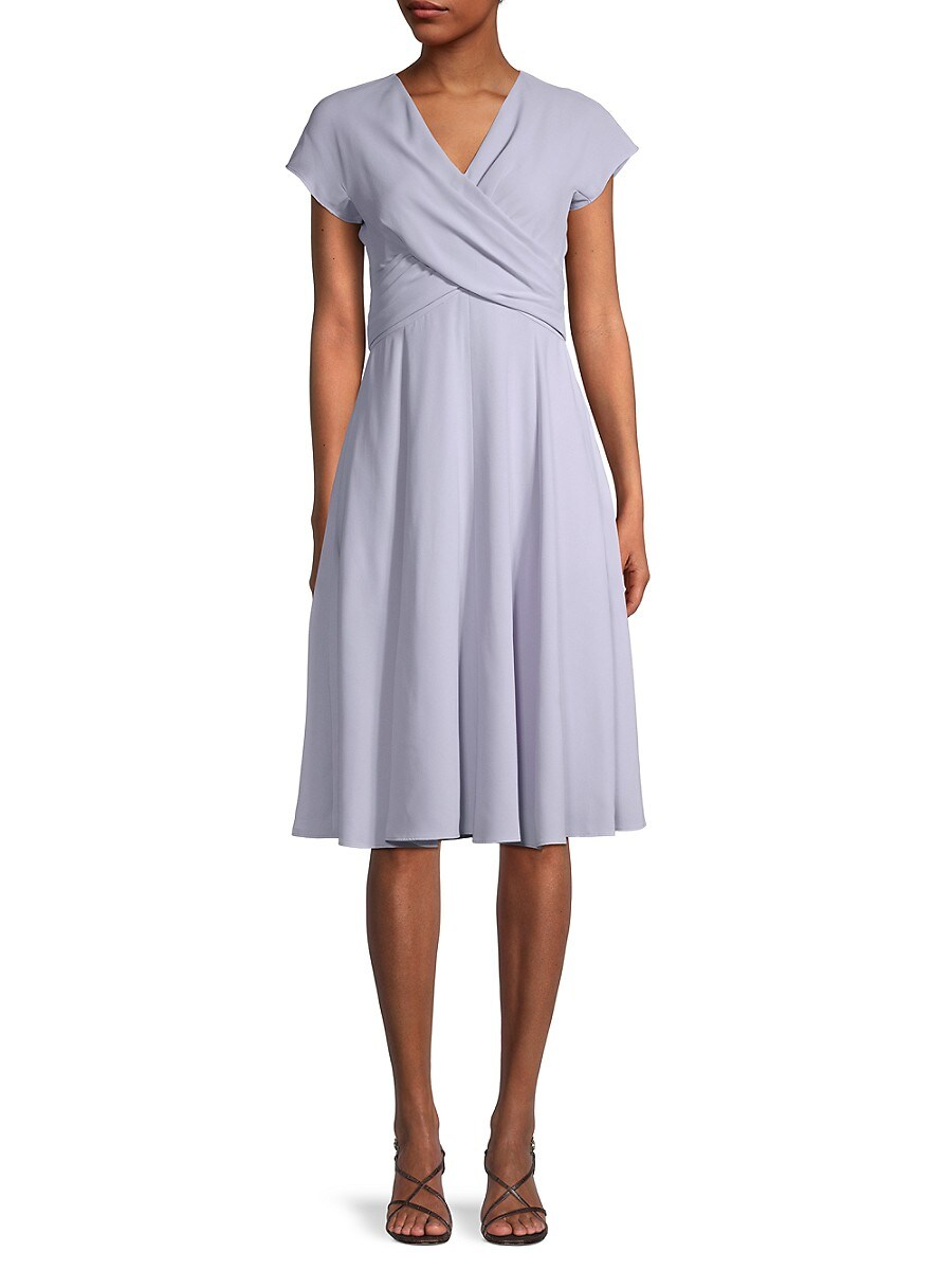Women's Crossover-Front A-Line Dress