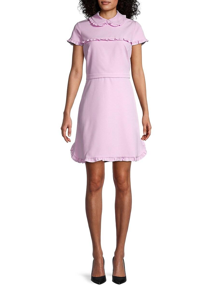 Women's Ruffle-Trim Peter Pan Collar Dress
