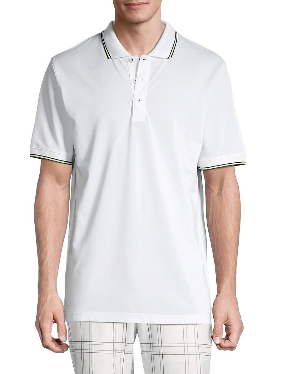 Dunning Golf Men's Dunkeld Regular-Fit Polo - White Halo - Size XXL
