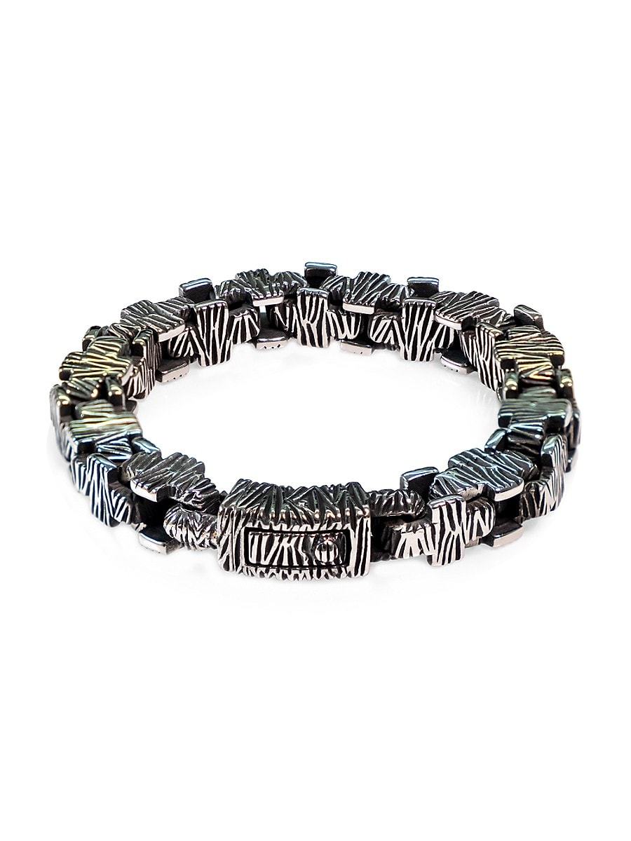 Men's Dell Arte Hard Rock Stainless Steel Bracelet