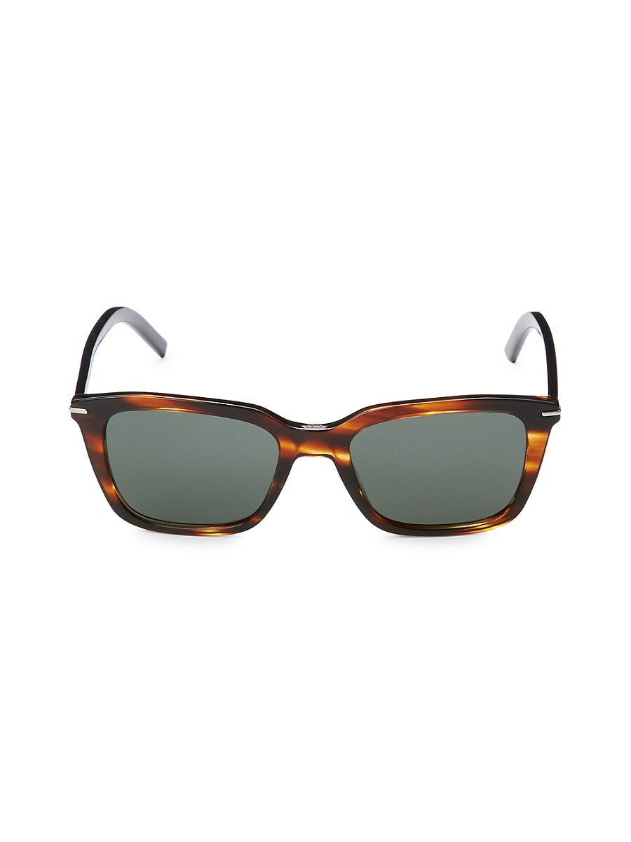 Women's 51MM Faux Tortoiseshell Rectangular Sunglasses
