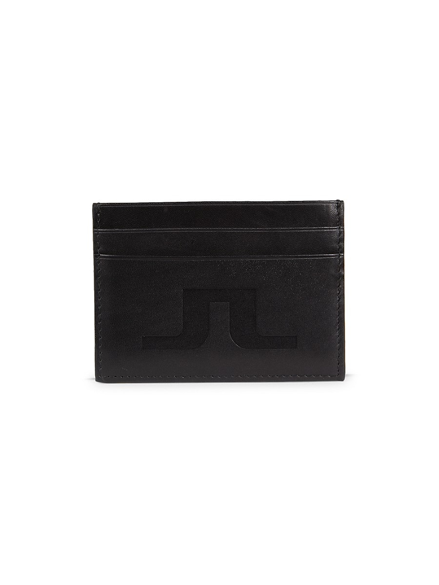 J. Lindeberg Men's Small Leather Wallet