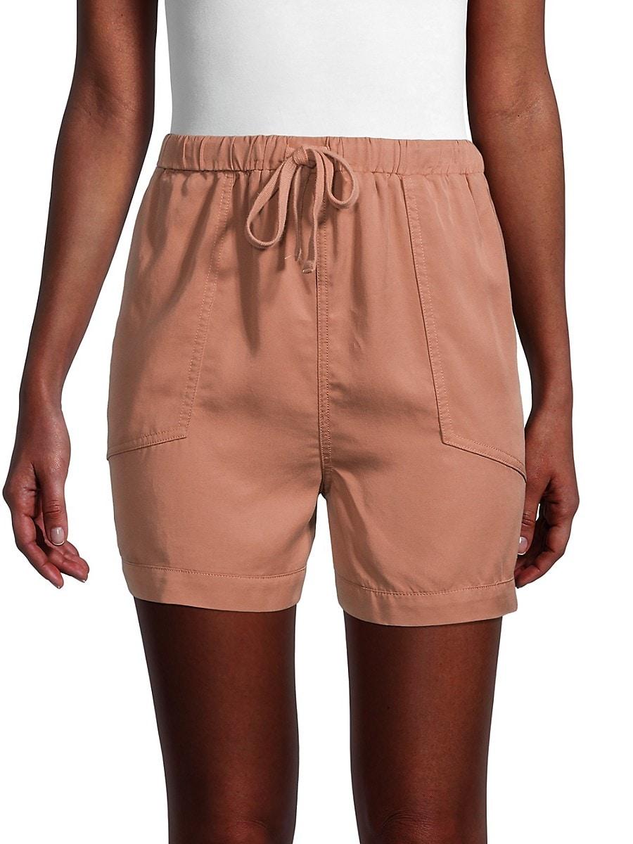 Women's High-Waist Drawstring Shorts