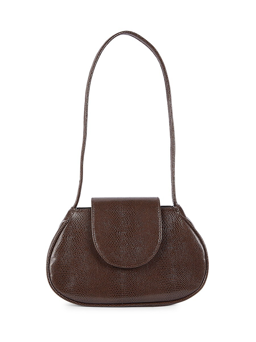 For The Ages Women's Textured Faux Leather Top Handle Bag - Chocolate