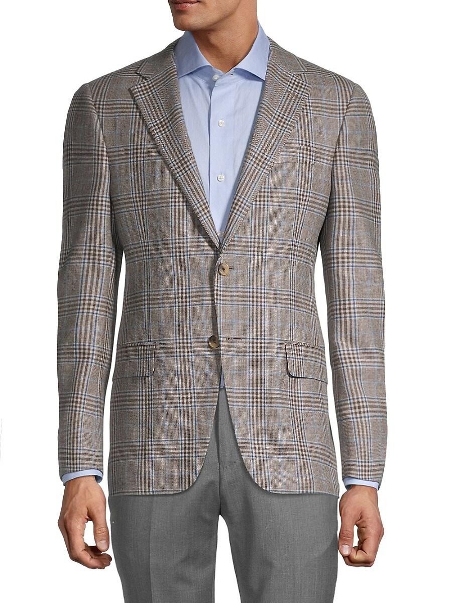 Men's Milburn II Regular-Fit Check Wool Jacket