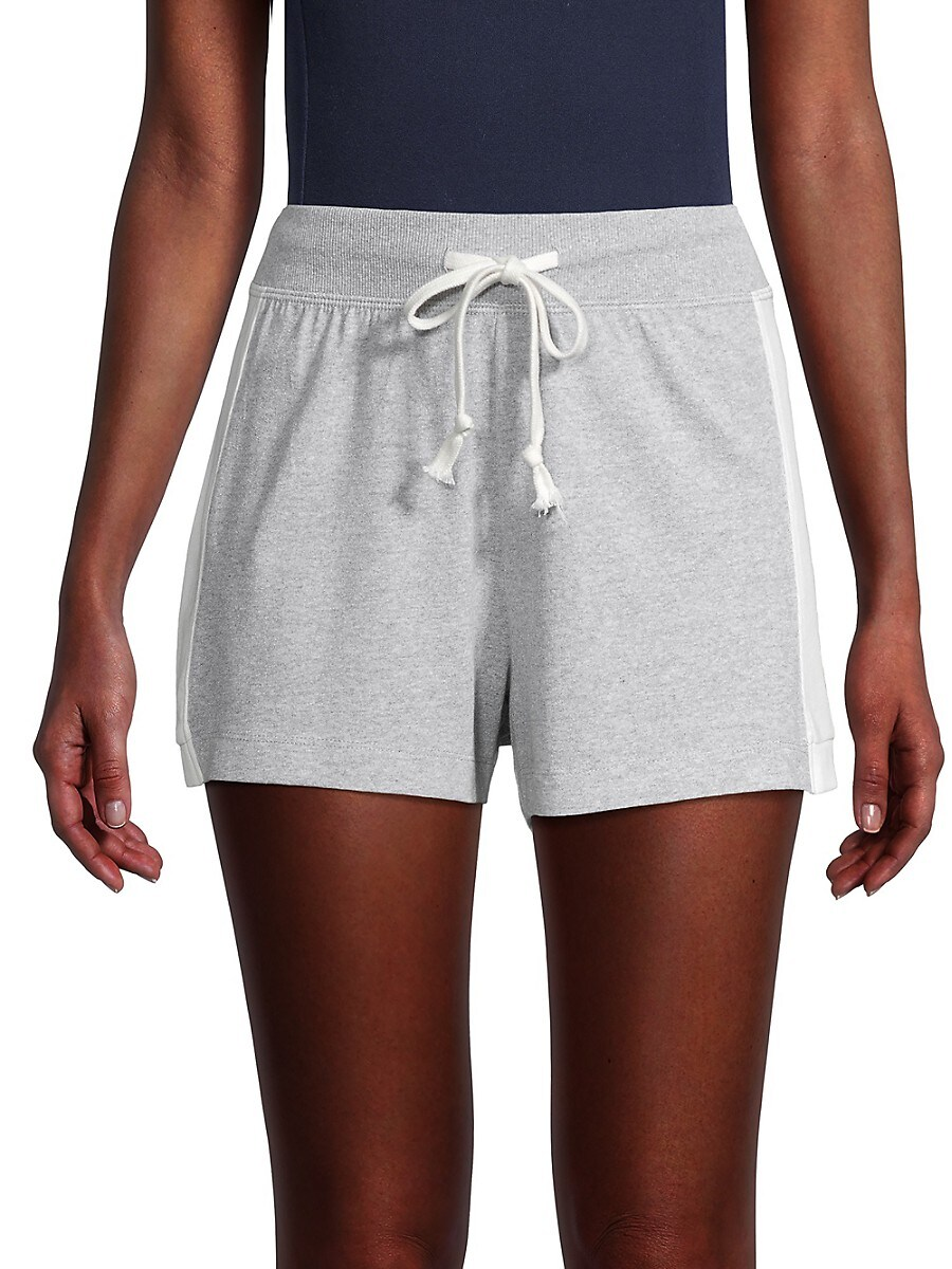 Grey State Women's Side-Stripe Drawstring Shorts - Grey - Size L