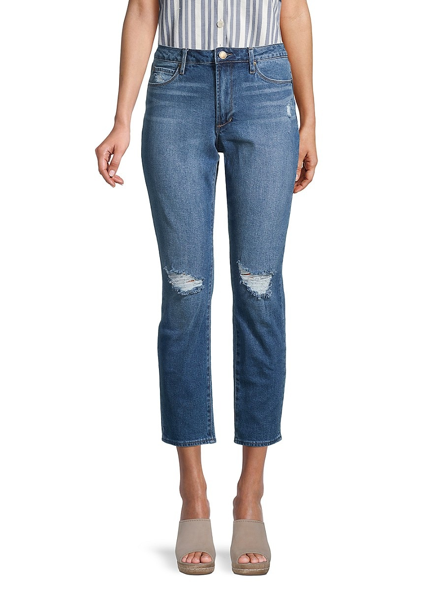 Women's Renee Distressed High-Rise Cropped Jeans