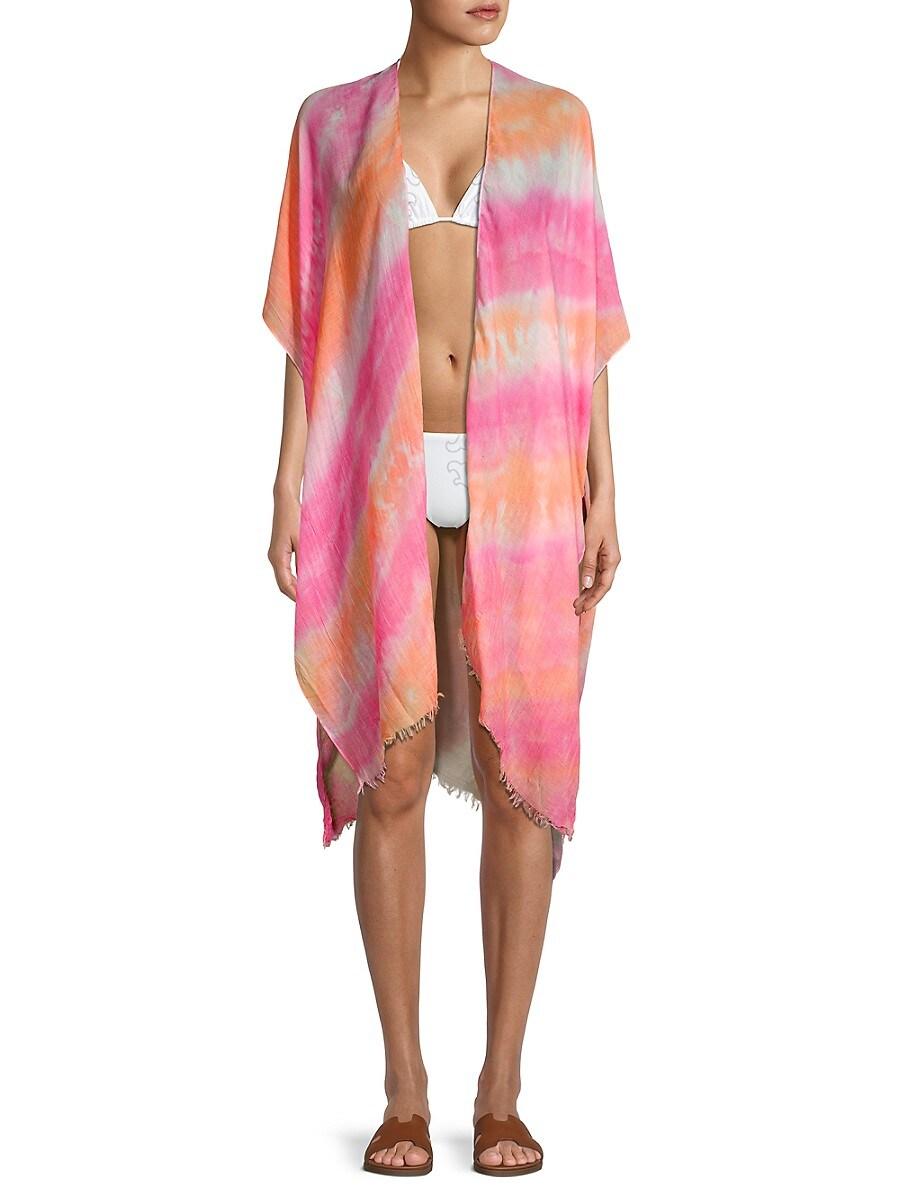 Women's Tie-Dye Kimono Coverup
