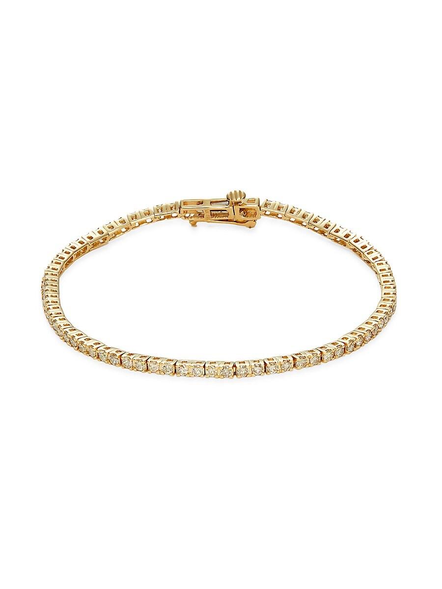 Women's 14K Yellow Gold & 1.0 TCW Diamond Tennis Bracelet