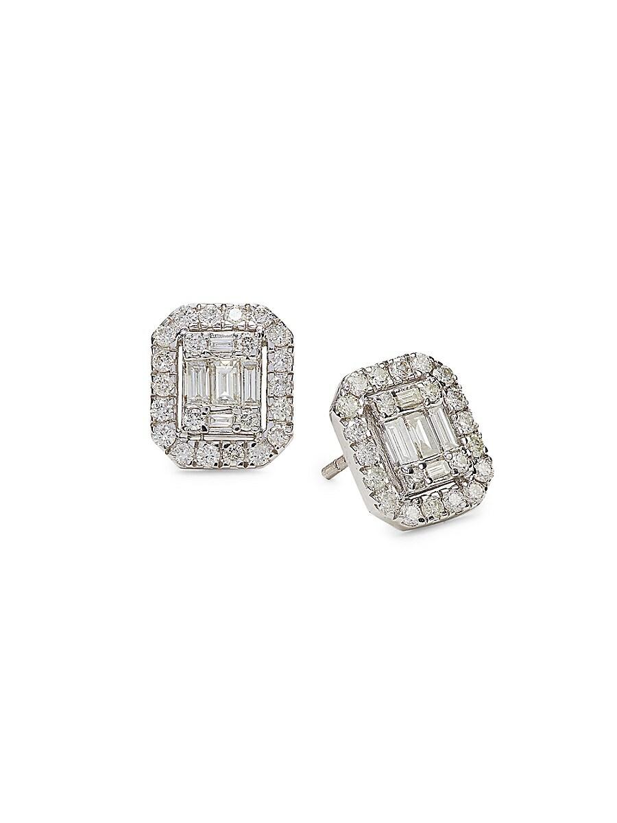 Women's 14K White Gold & 0.75 TCW Diamond Stud Earrings