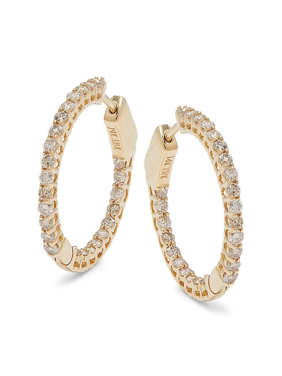 Women's 14K Yellow Gold & 1 TCW Diamond Earrings