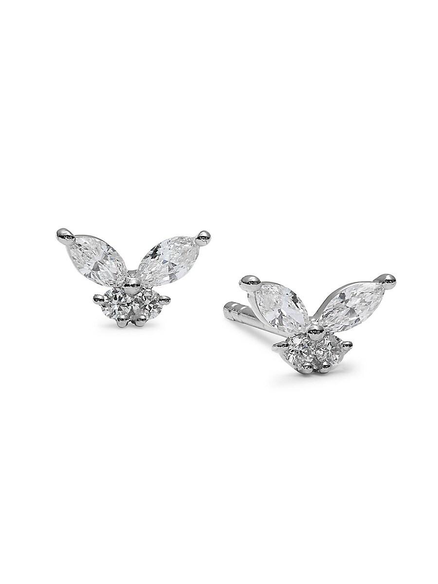 Women's 14K White Gold & 0.31 TCW Diamond Stud Earrings