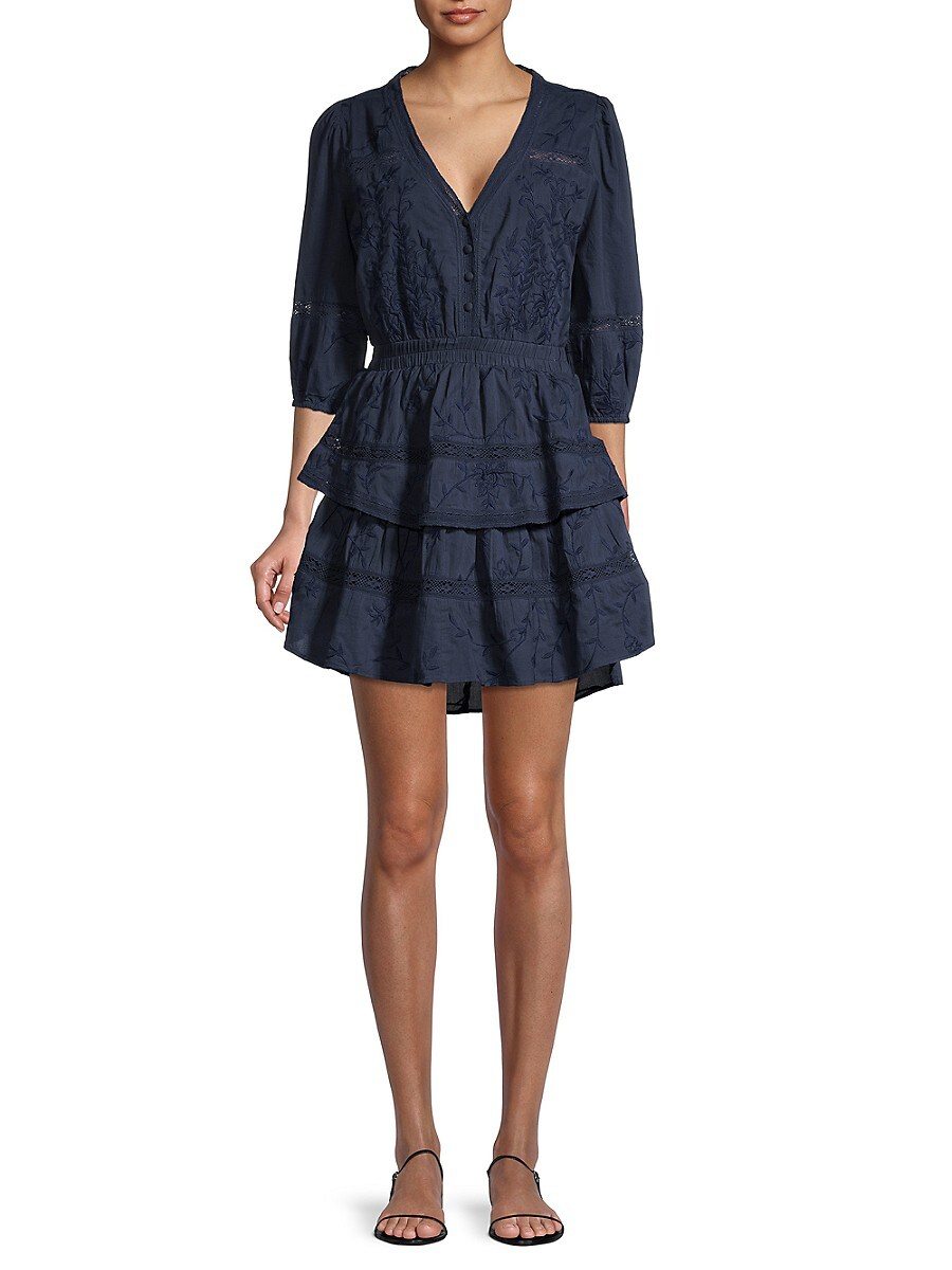 Women's Embroidered Tiered Dress