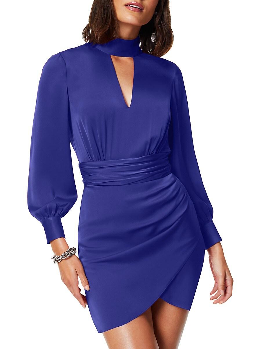 Women's Angela Choker Ruched Mini Dress