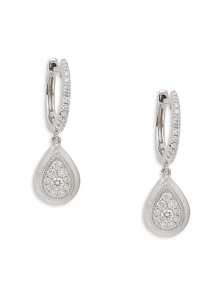 Women's 14K White Gold & 0.34 TCW Diamond Drop Earrings