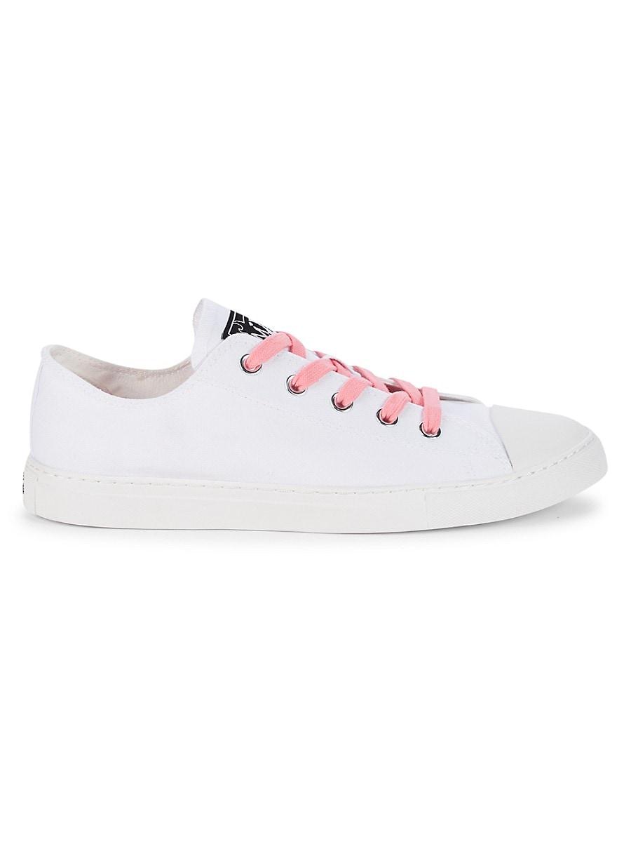 MAH Gender Neutral Pride Flag Canvas Sneakers - White Cloud - Size W 15 / M 13