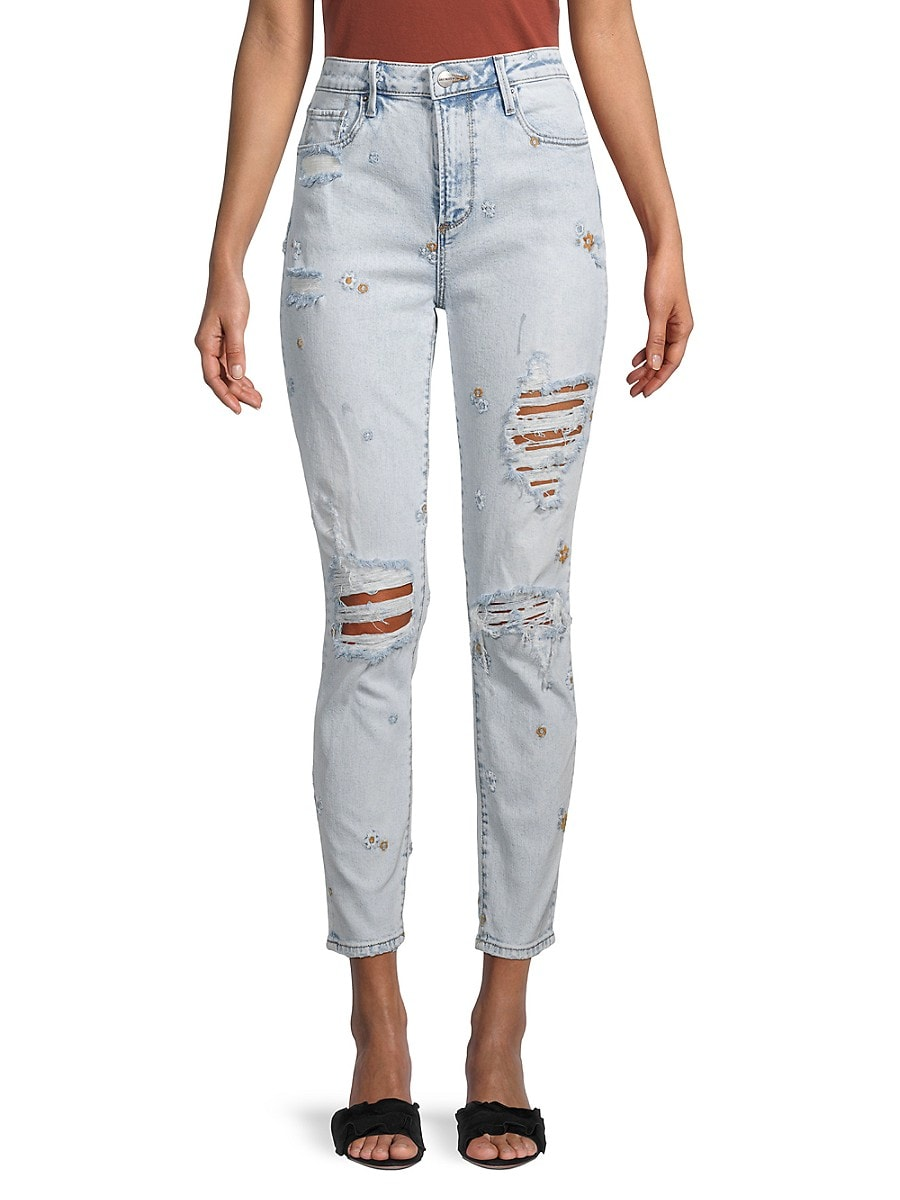 Women's Gizelle Distressed Ankle Jeans