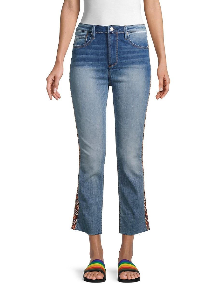 Women's Colette Embroidered Cropped Jeans