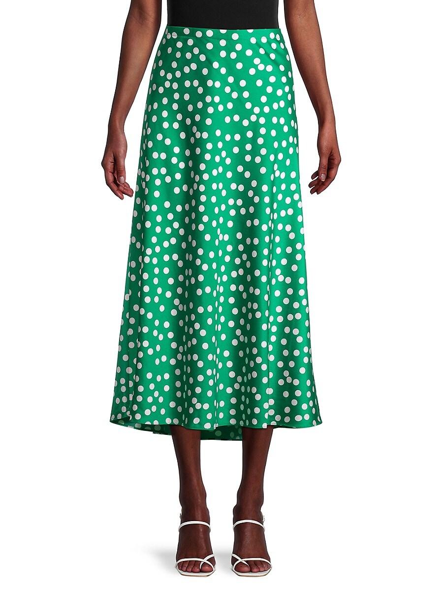 Women's Polka Dot Charmeuse Skirt