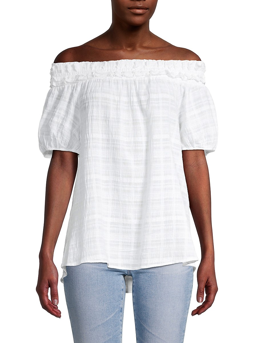 Women's Striped Off-The-Shoulder Top