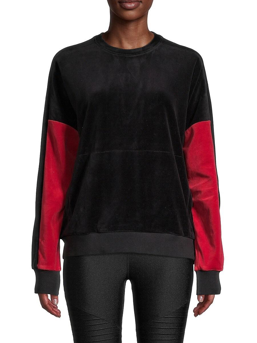 Women's Colorblock Velour Pullover