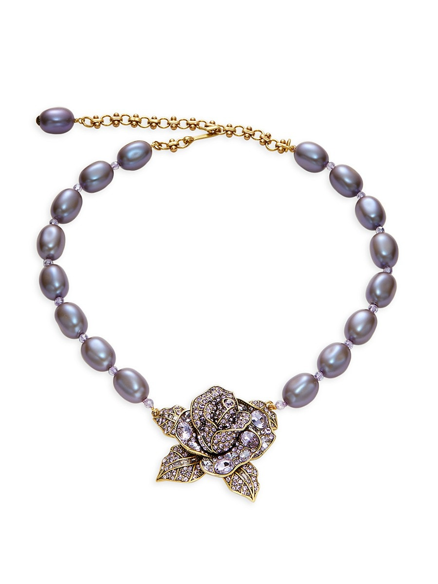 Women's Beaded Floral Statement Necklace