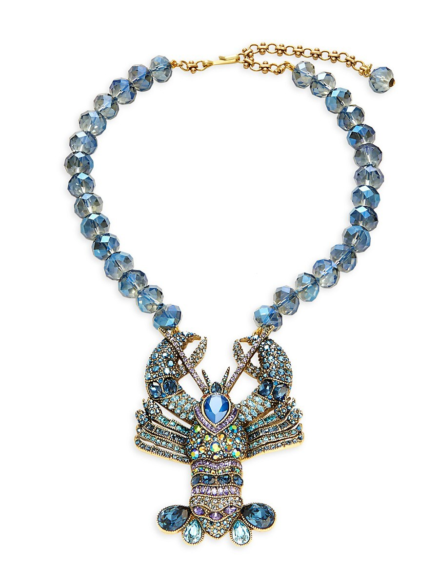 Women's Beaded Lobster Statement Necklace