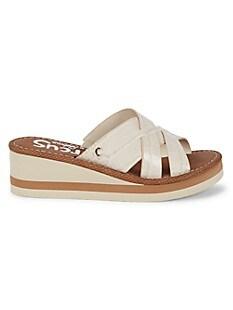 서커스 바이 샘 에델만 Circus by Sam Edelman Hadley Croc-Embossed Wedge Sandals,IVORY
