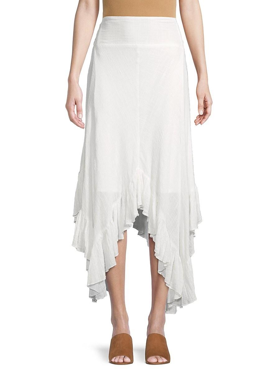 Women's Cotton-Blend Hankerchief Skirt