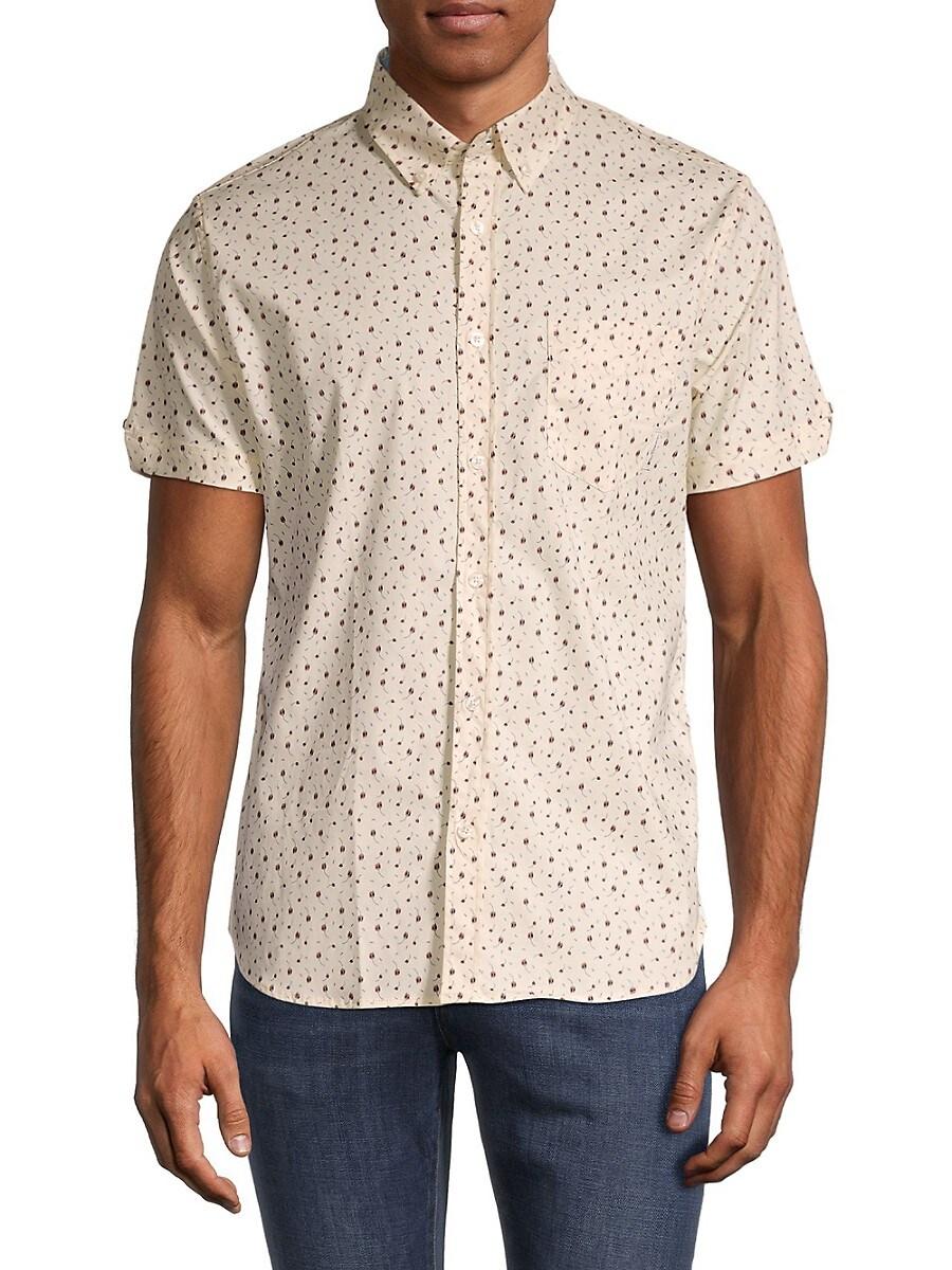 Men's Classic-Fit Dash-Print Shirt