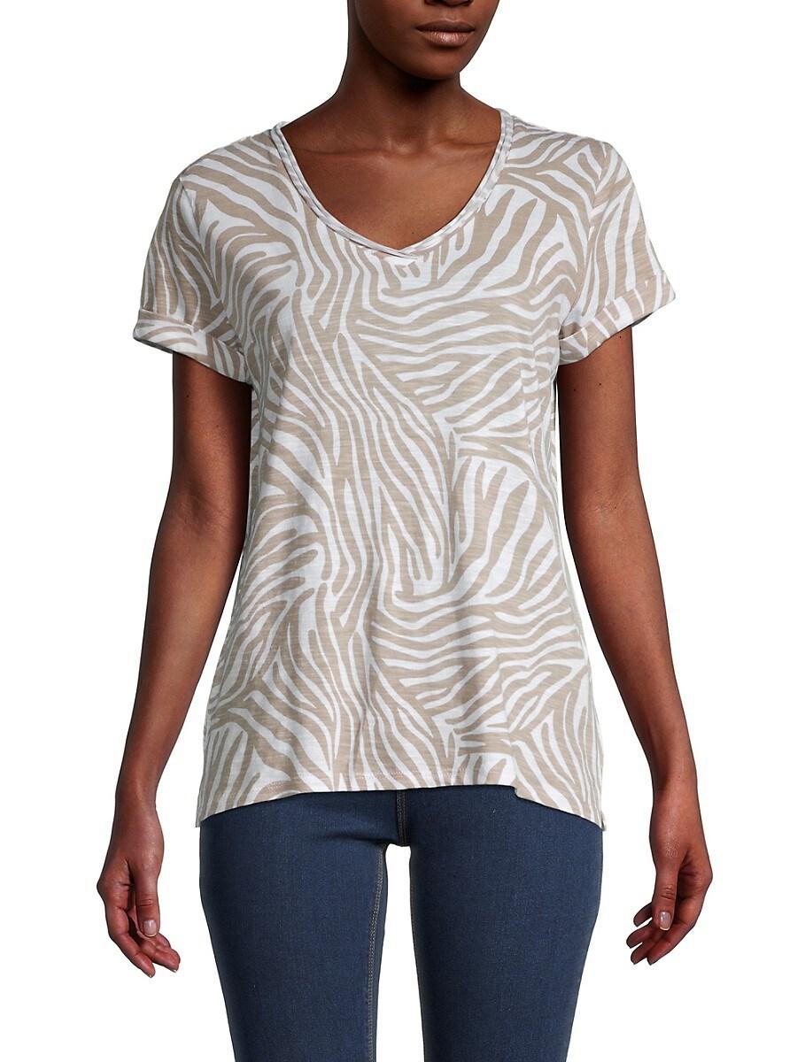 Women's Printed V-Neck T-Shirt