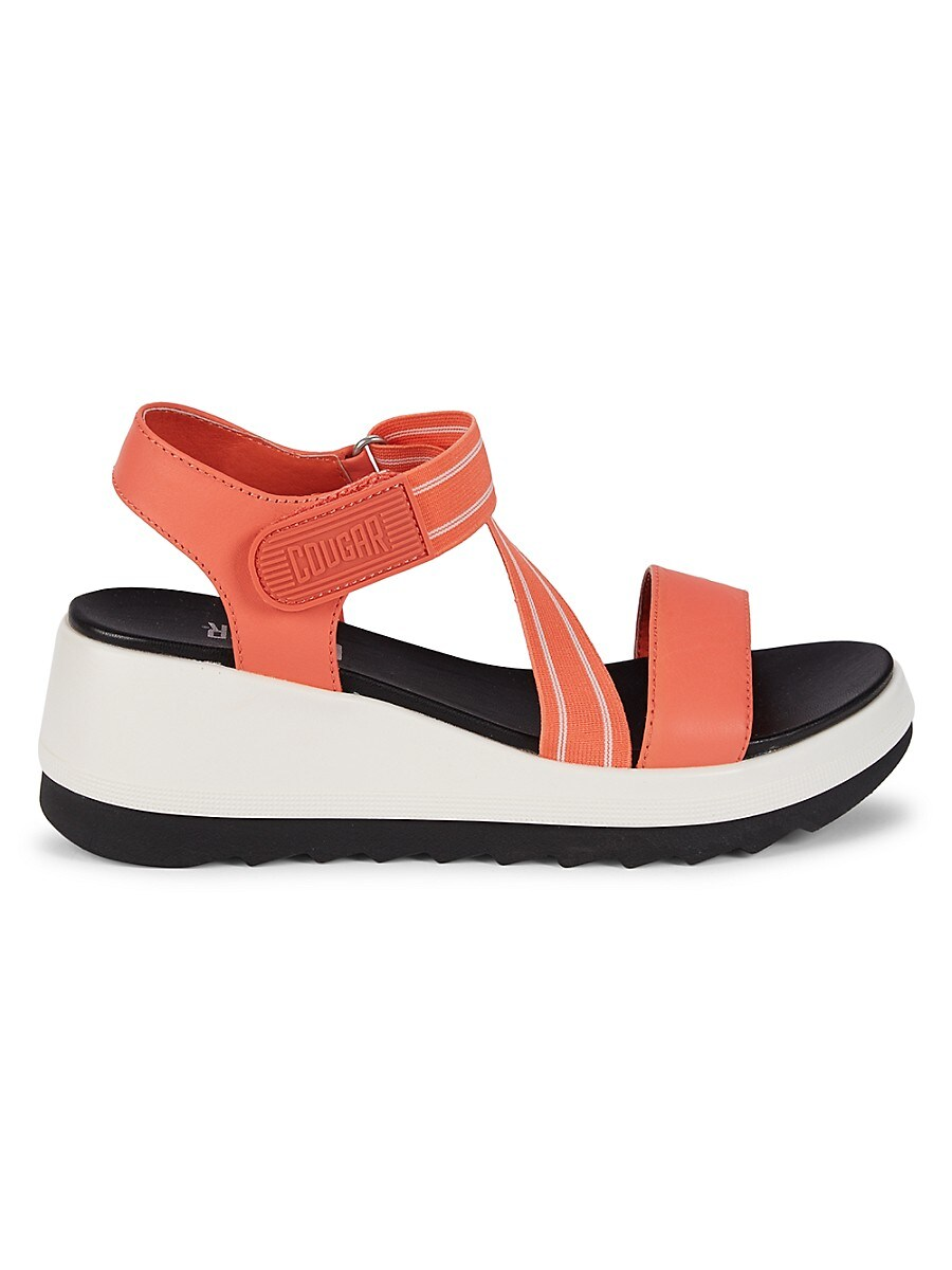 Women's Mixed-Media Wedge Sandals