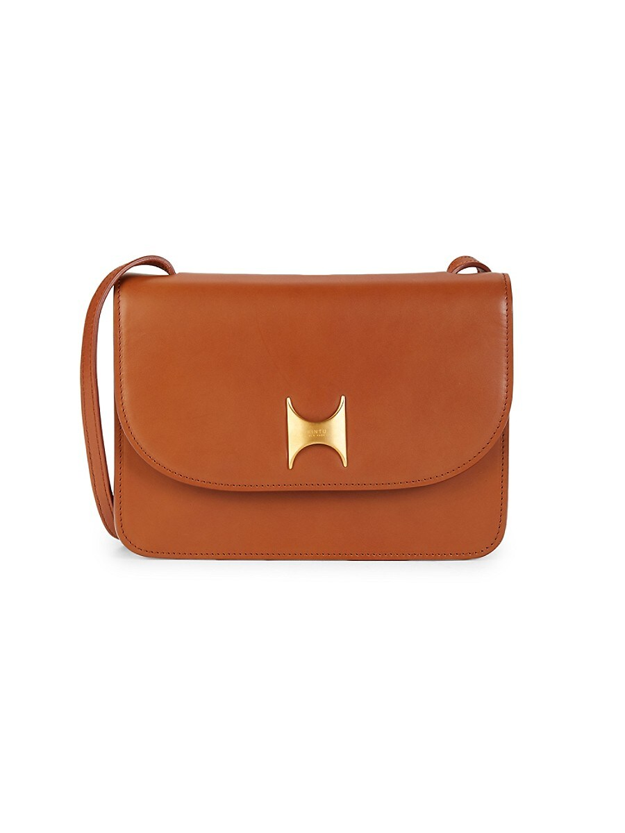 Women's Natural Tanned Leather Crossbody Bag