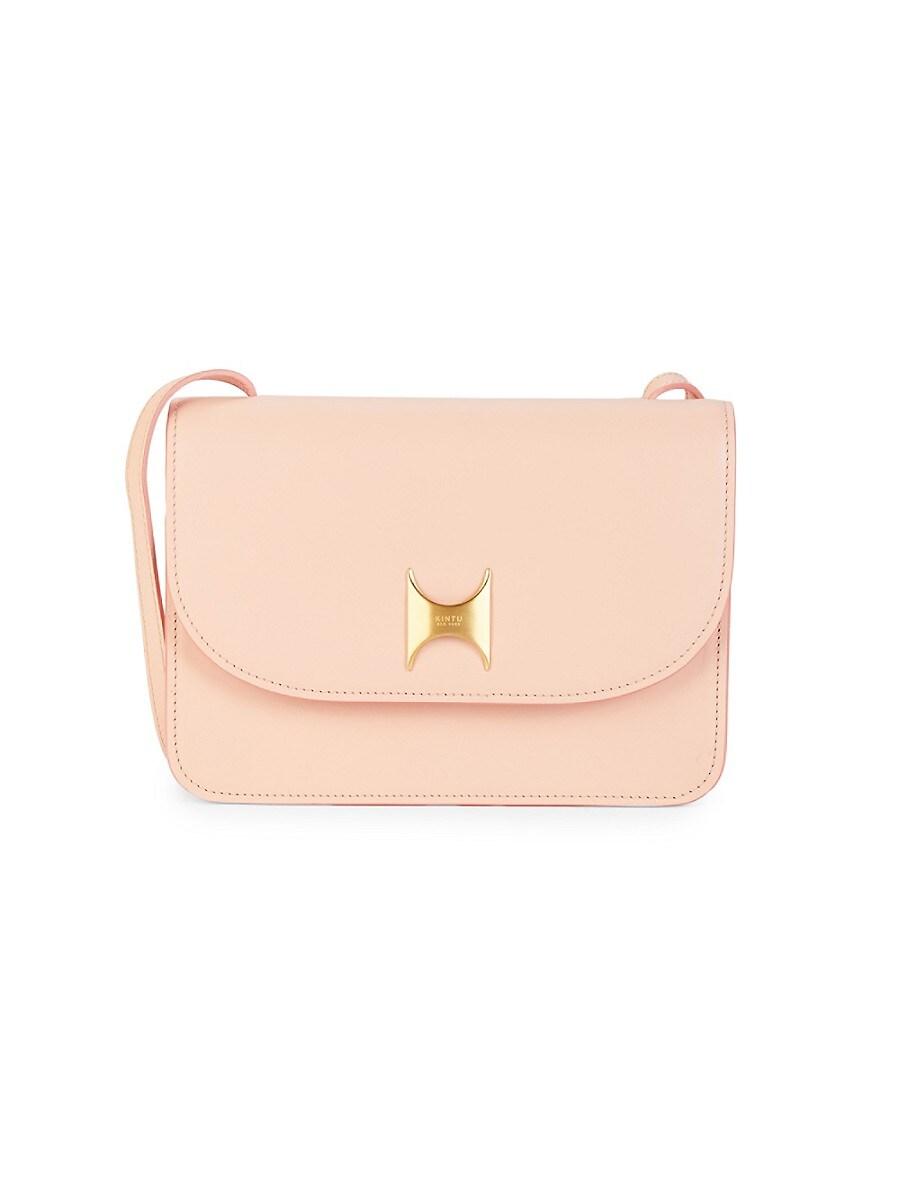 Kintu New York Women's Natural Tanned Leather Crossbody Bag - Pink