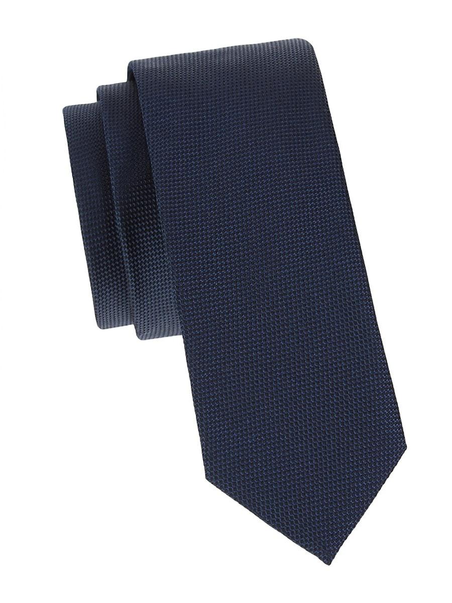 Men's Textured Silk Tie