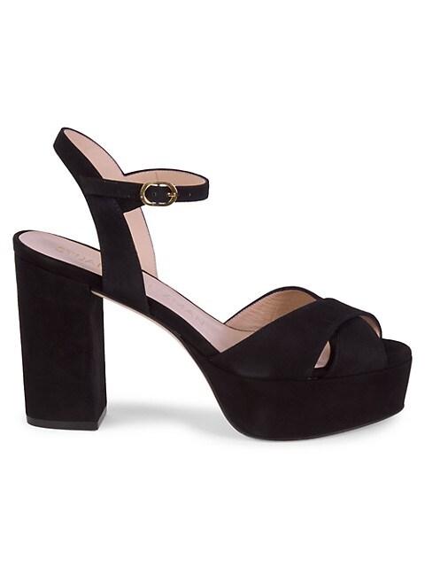 Stuart Weitzman Ivona Suede Platform Sandals