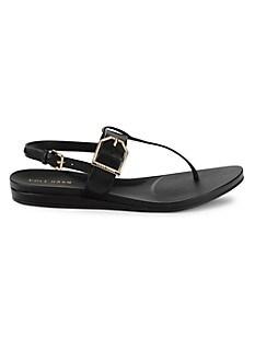 콜한 Cole Haan Francie Leather Sandals,BLACK