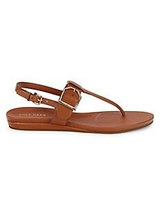 콜한 Cole Haan Francie Leather Sandals,PECAN