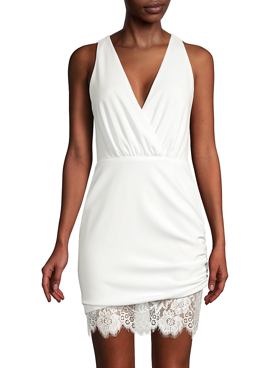 Women's Clifford Ruched Lace Dress