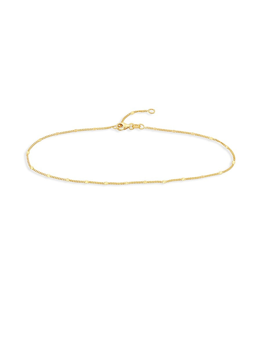"Women's 14K Yellow Gold Choker Necklace/10"""