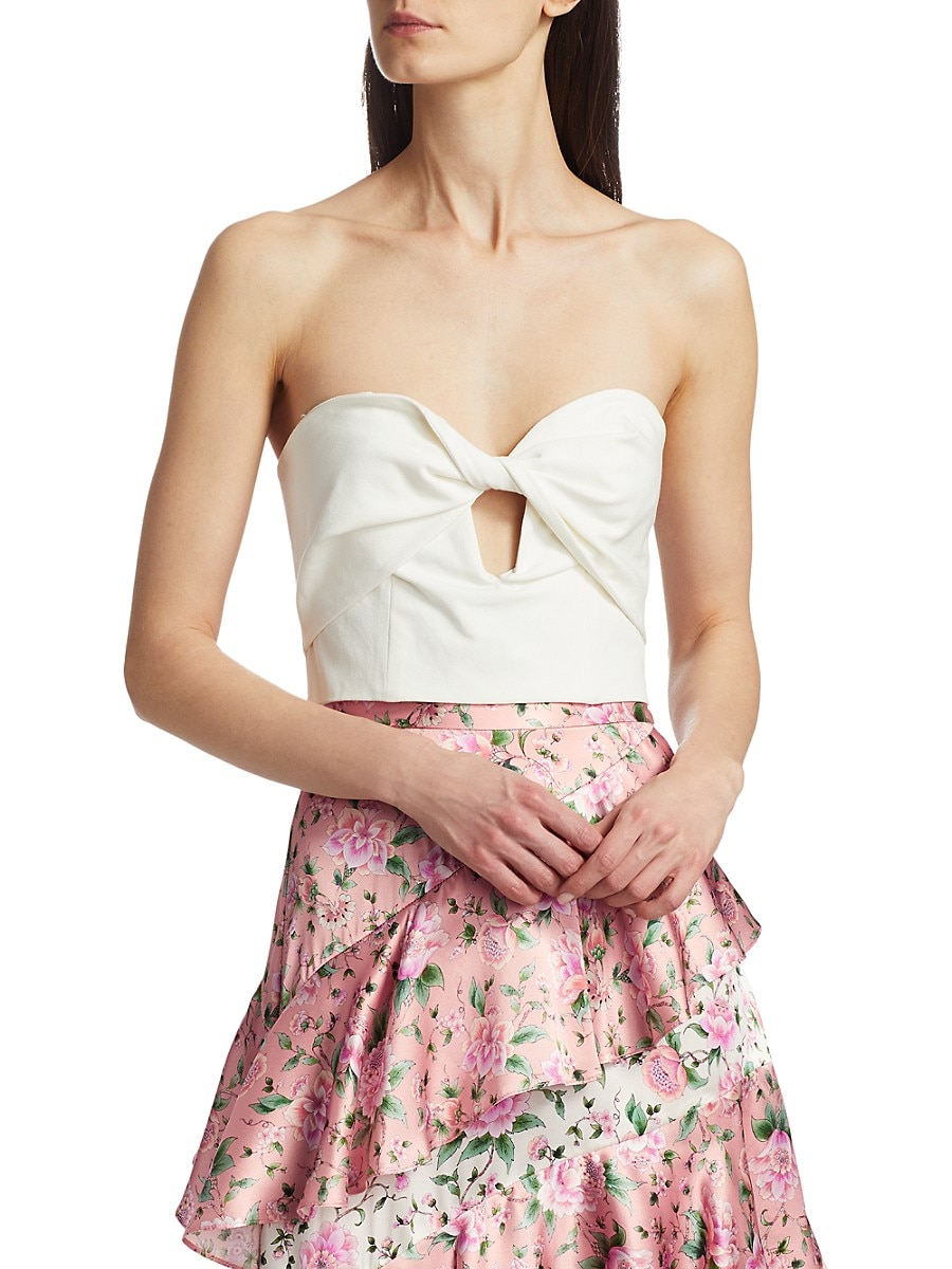 Women's Arianna Keyhole Strapless Cropped Top