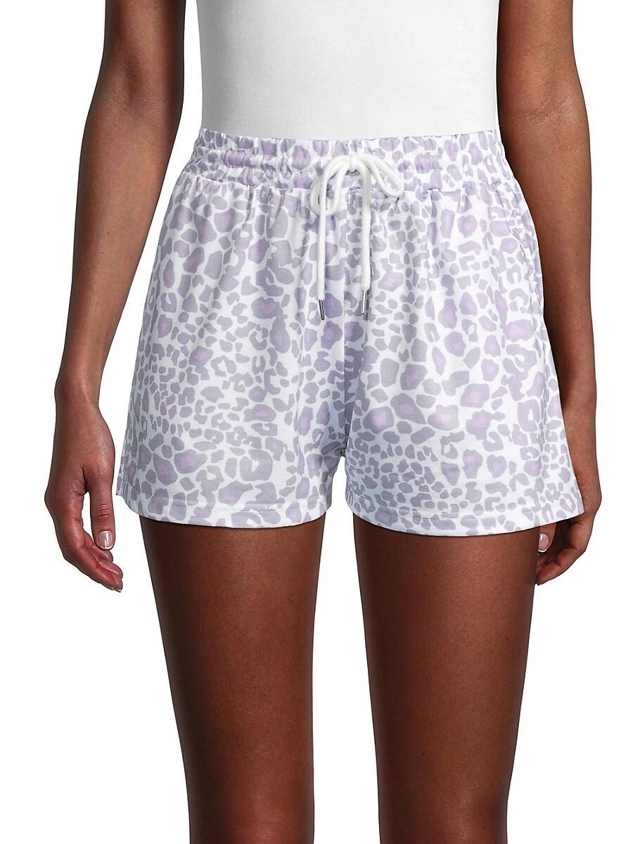 Women's Cheetah-Print Drawstring Shorts