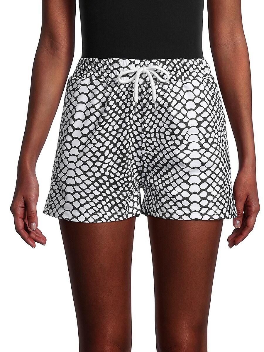 Women's Snakeskin-Print Shorts