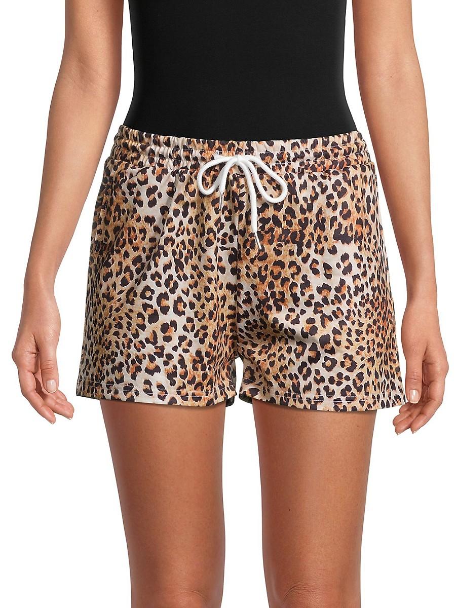 Women's Leopard-Print Shorts