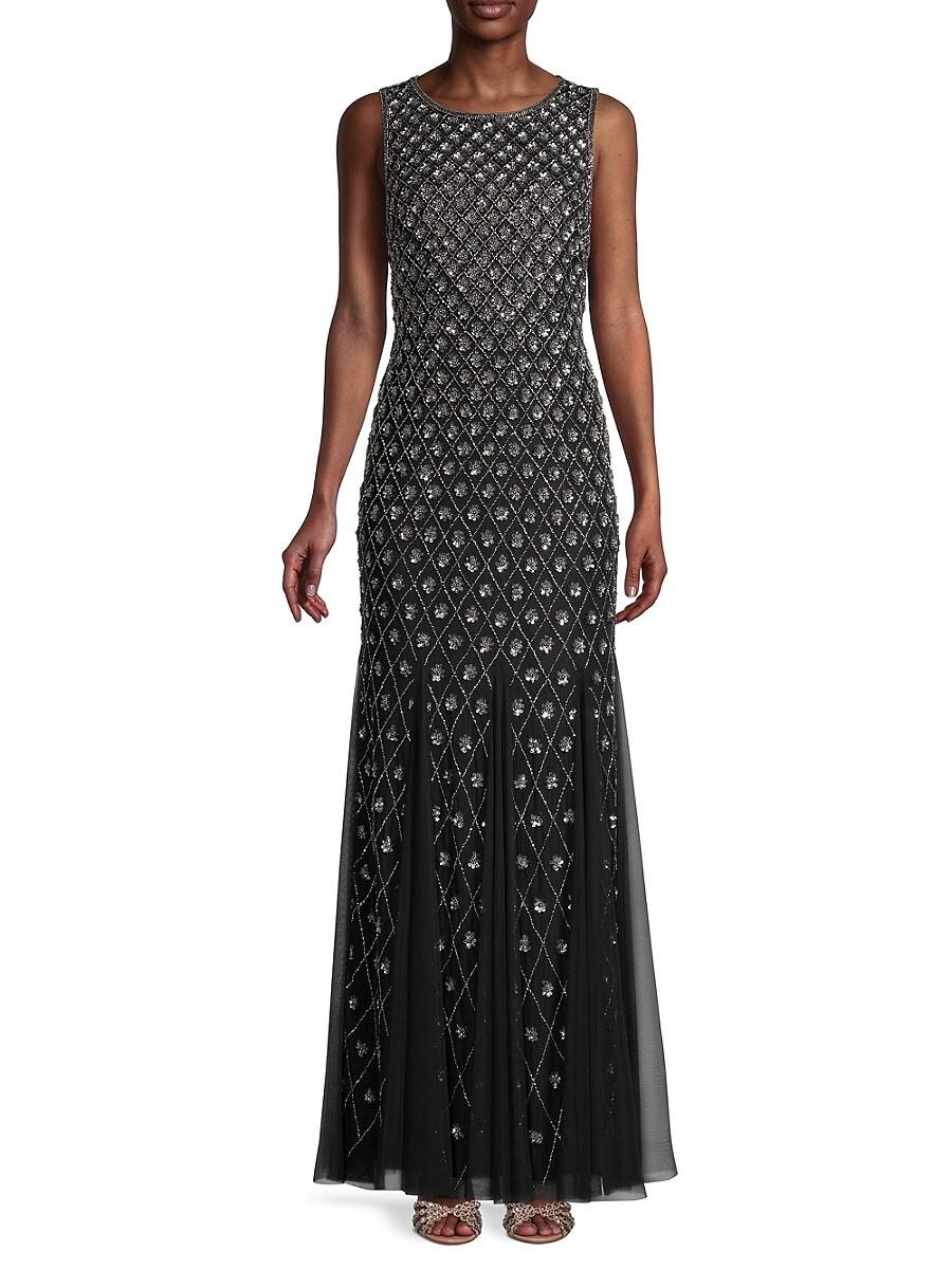 Women's Beaded Sleeveless Gown