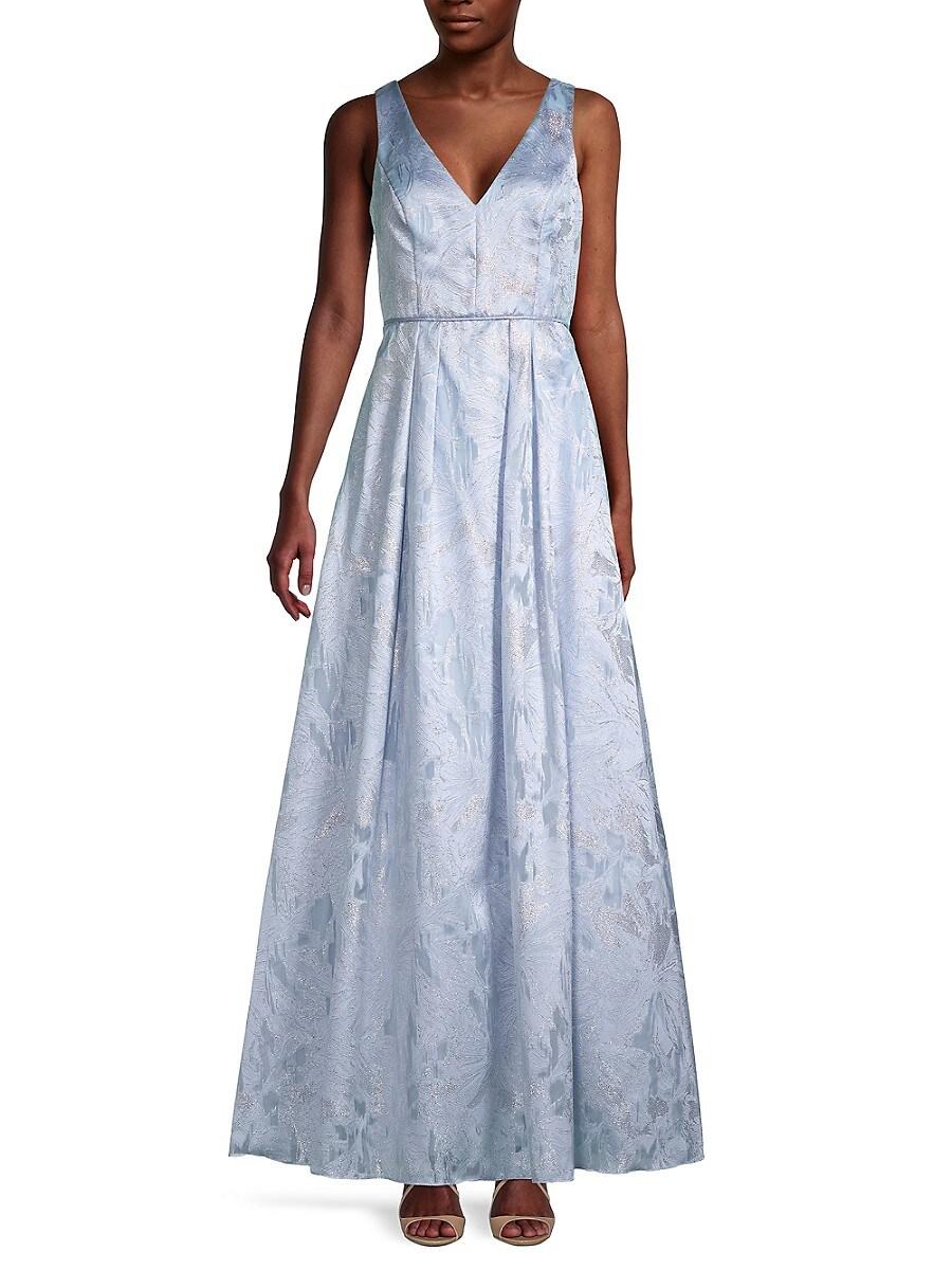 Women's Metallic Brocade Gown