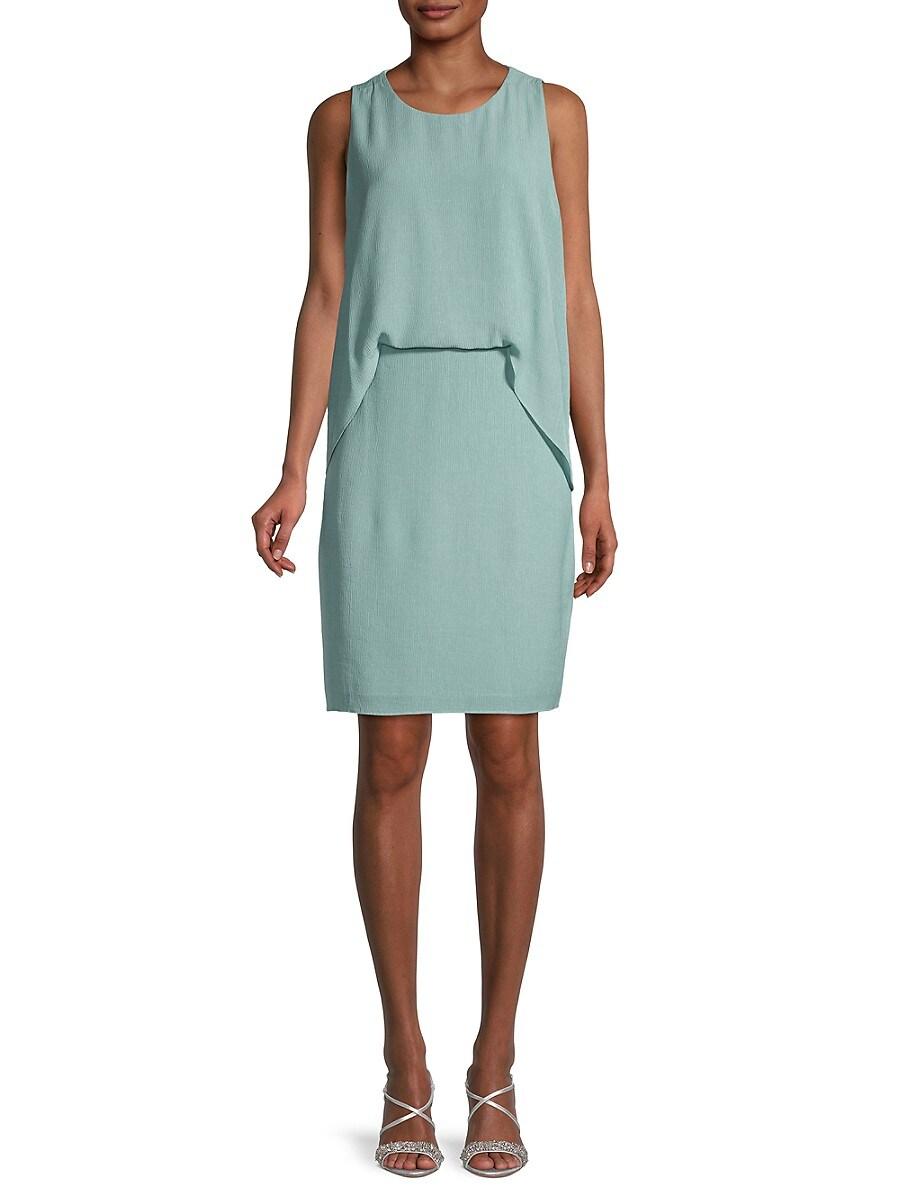 Women's Solid Overlay Dress